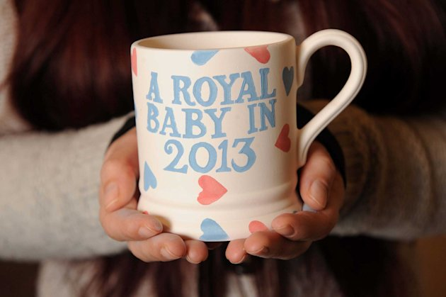 Pottery firms have already started rushing commemorative Royal baby mugs into production