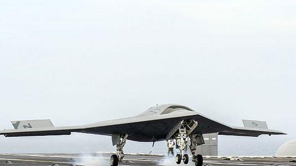 Navy Drone Makes First Aircraft Carrier Landing