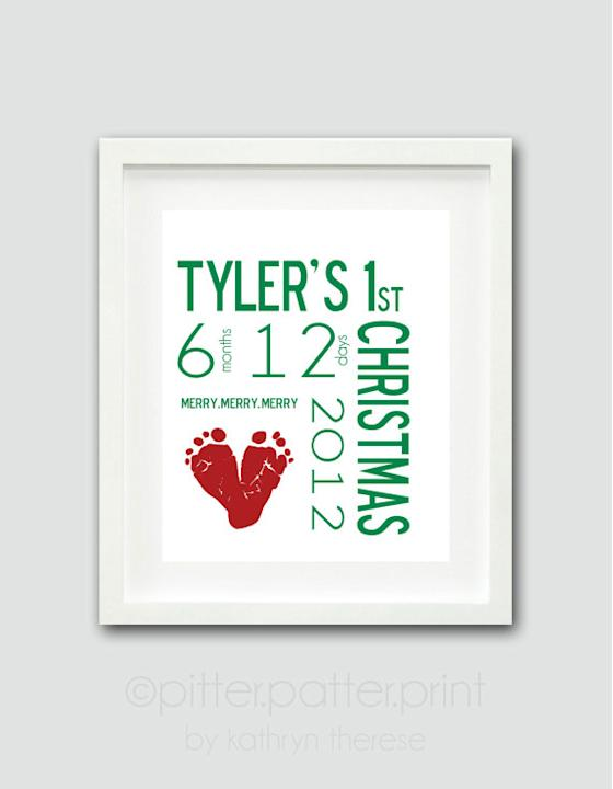 First Christmas Personalized Framed Print