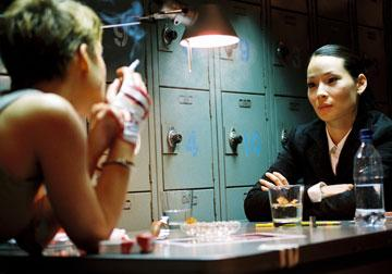 Keira Knightley and Lucy Liu in New Line Cinema's Domino