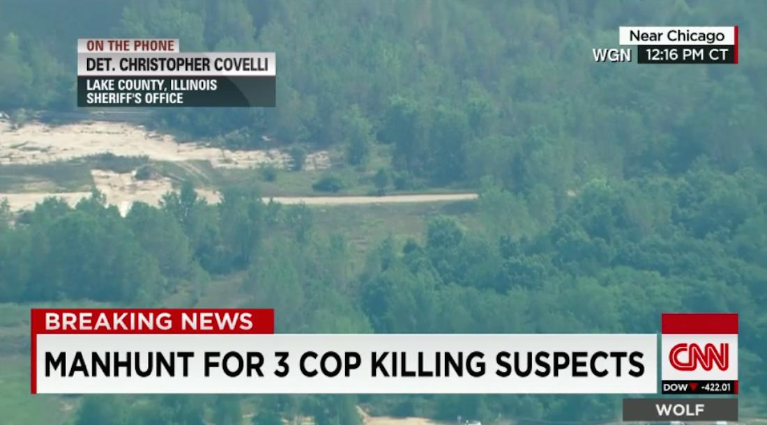 Manhunt on for alleged cop killers north of Chicago