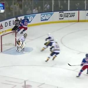 Pekka Rinne Save on Rick Nash (15:04/1st)