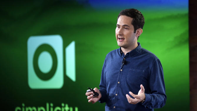 Instagram founder Kevin Systrom talks about an added video feature to the Instagram program at Facebook headquarters in Menlo Park, Calif., Thursday, June 20, 2013. (AP Photo/Marcio Jose Sanchez)