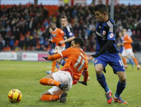Soccer - Sky Bet Championship - Blackpool v Middlesbrough - Bloomfield Road