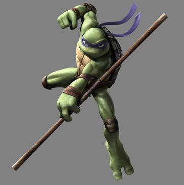 Donatello (voiced by Mitchell Whitfield ) in Warner Bros. Pictures' TMNT