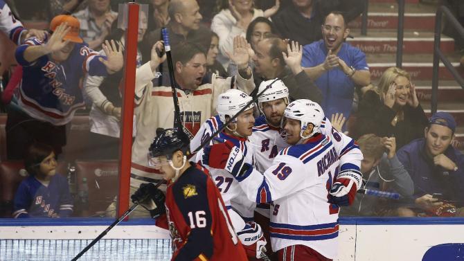 Nash, Lundqvist lead Rangers past Panthers 5-2