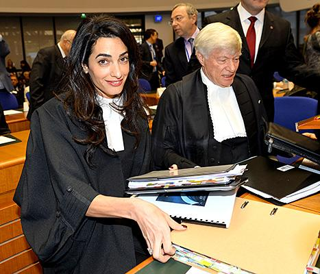 Amal Alamuddin Schools a Reporter Who Asked Her a Fashion Question in the Courtroom: See Her Hilarious Response