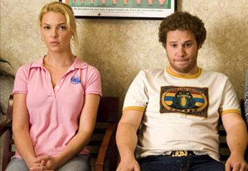 Katherine Heigl and Seth Rogen in Universal Pictures' Knocked Up
