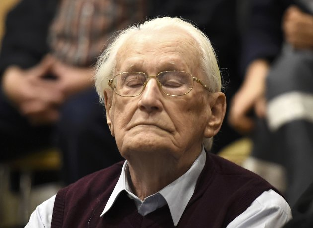 "CLICK IMAGE for slideshow: Oskar Groening, defendant and former Nazi SS officer dubbed the ""bookkeeper of Auschwitz"", listens to the verdict..."