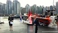 MLA Randy Kemp launched the new Inshore Rescue Boat service at the HMCS Discovery Navy base in Stanley Park on Wednesday morning.