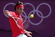 Switzerland&#39;s Roger Federer during the men&#39;s tennis singles final against Britain&#39;s Andy Murray at the London Olympics on August 5. Murray&#39;s dominance of Federer was so complete that he didn&#39;t drop a serve in the entire match and lost only one point on his serve in the final set