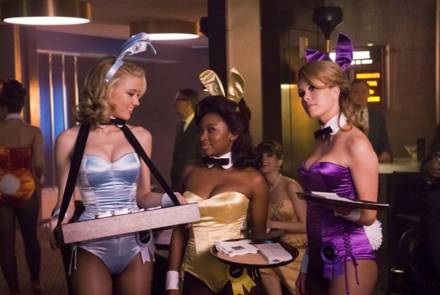 "Amber Heard as Maureen, Naturi Naughton as Brenda and Leah Renee as Alice in ""The Playboy Club."""