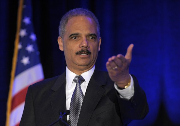 Attorney General Eric Holder speaks at the National Forum on Youth Violence Prevention in Washington, Monday, April 2, 2012. (AP Photo/Susan Walsh)