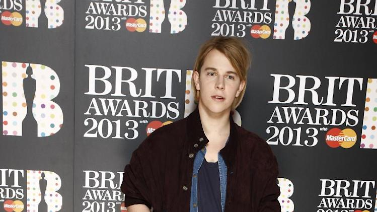 Tom Odell seen at the Brit Awards Nominations event at the Savoy Hotel on Thursday, Jan. 10, 2013, in London. (Photo by John Marshall JME/Invision/AP)