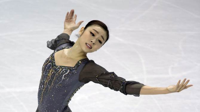 Kim Yu-na, of South Korea, performs in the ladies program at the ISU World Figure Skating Championships in London, Ontario on Saturday March 16, 2013. (AP Photo/The Canadian Press, Frank Gunn)