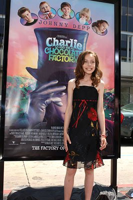 Julia Winter at the LA premiere of Warner Bros. Pictures' Charlie and the Chocolate Factory
