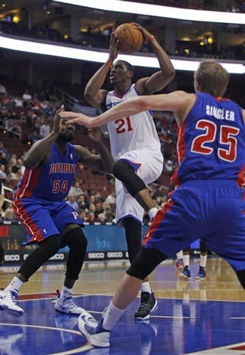 Winless no more, Pistons romp past 76ers 94-76