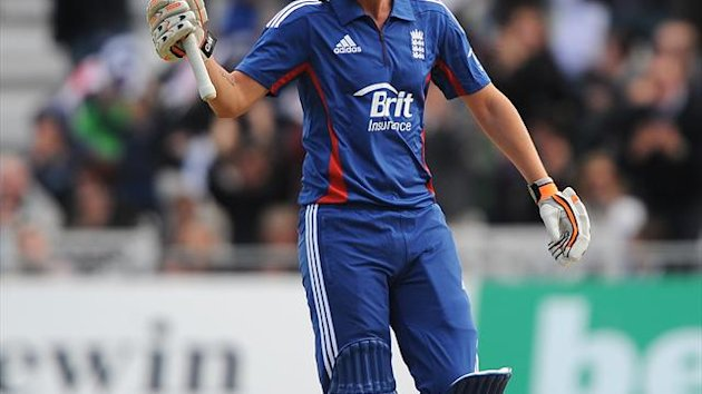 Alex Hales top-scored for England with 56