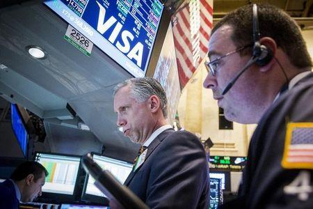 Wall Street, dollar fall on economic worry; oil up