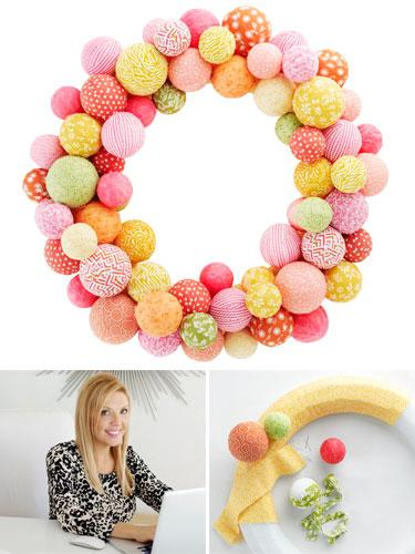 Fun Fabric Ball Wreath