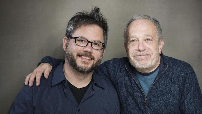 """This Jan. 21, 2013 photo shows director Jacob Kornbluth, left, and author, economist and former Secretary of Labor Robert Reich from the film """"Inequality For All"""" during the 2013 Sundance Film Festival at the Fender Music Lodge in Park City, Utah. (Photo by Victoria Will/Invision/AP)"""