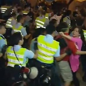 Raw: Hong Kong Protesters Clash With Police