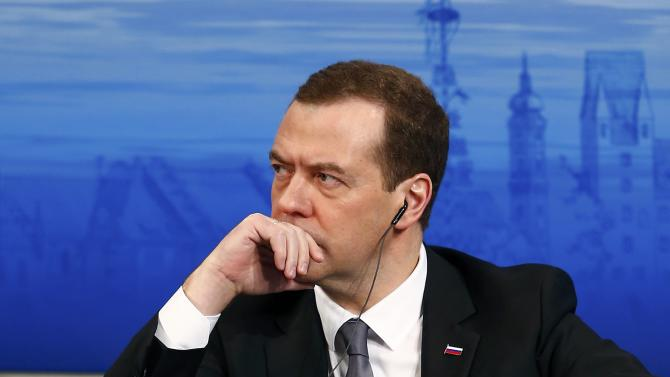Russian Prime Minister Medvedev attends the Munich Security Conference in Munich