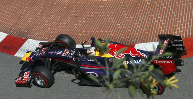 Red Bull Formula One driver Sebastian Vettel of Germany drives during the second practice session of the Monaco F1 Grand Prix