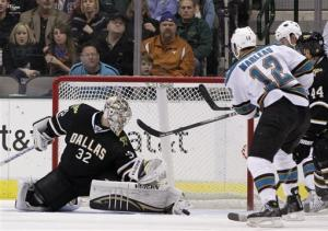 Vincour, Lehtonen lead Stars past Sharks in SO