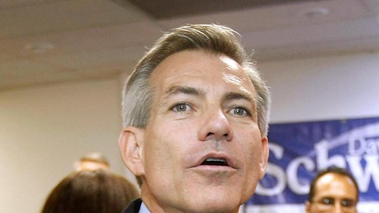 FILE - This Aug. 28, 2012 file photo shows Rep. David Schweikert, R-Ariz. speaking in Phoenix. House Speaker John Boehner's decision to take plum committee assignments away from four Republican lawmakers after they bucked party leaders on key votes isn't going over well with conservative advocacy groups. Schweikert will lose his seat on the House Financial Services Committee. (AP Photo/Ralph Freso, File)