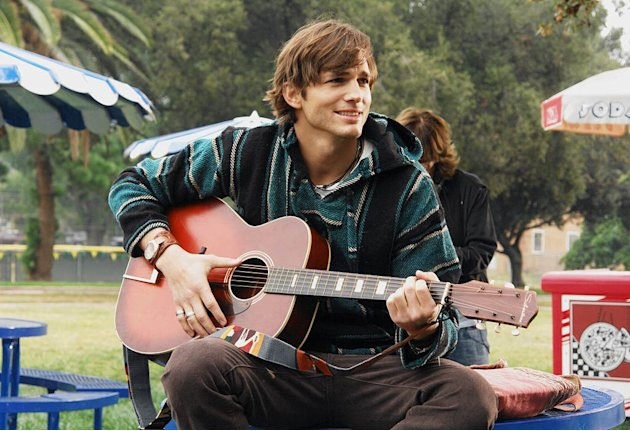 Guest star Ashton Kutcher as substitute Spanish teacher Beaux on ABC Television Network's Miss Guided 
