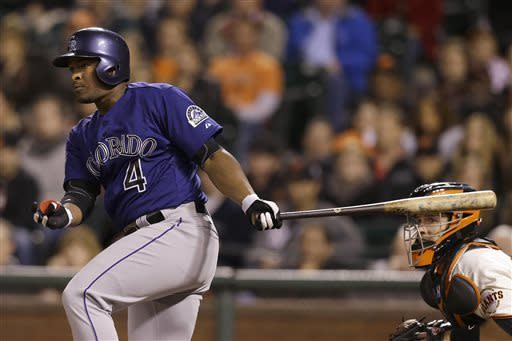Pence's 3-run homer leads Giants past Rockies 4-2