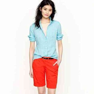 Bright chino shorts