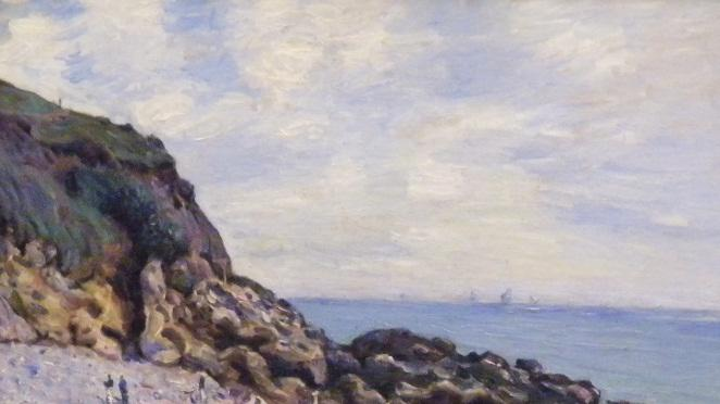 "In this photo provided by the United States Attorney's Office in New York, shows an 1887 painting by Alfred Sisley entitled ""Langland Bay.""   Vilma Bautista, one time secretary to Philippine's first lady Imelda Marcos, was indicted in New York, Tuesday, Nov. 20, 2012, on charges of conspiracy, tax fraud and offering a false instrument for filing for attempting to illegally sell this work and others that disappeared as Ferdinand Marco's regime collapsed in the late 1980's. (AP Photo/United States Attorney's Office)"
