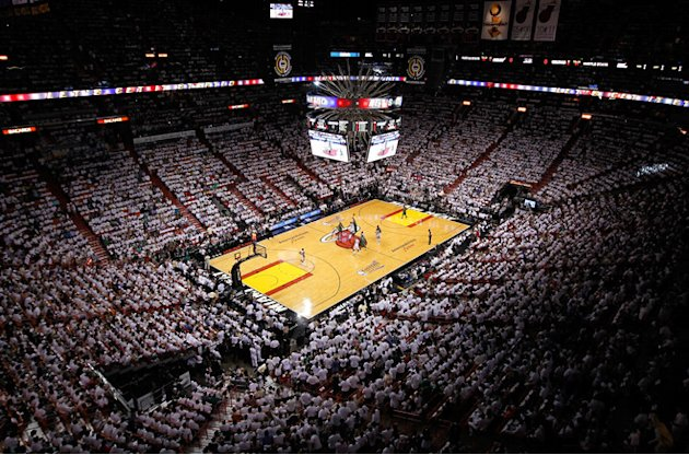 A General View Of The Opening Tip-off Between The Miami Heat And The Boston Celtics In Game Two Of The Eastern  Getty Images