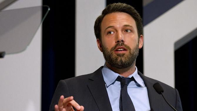 Actor Ben Affleck speaks at the USAID Child Survival Forum, Thursday, June 14, 2012, at Georgetown University in Washington. (AP Photo/Jacquelyn Martin)