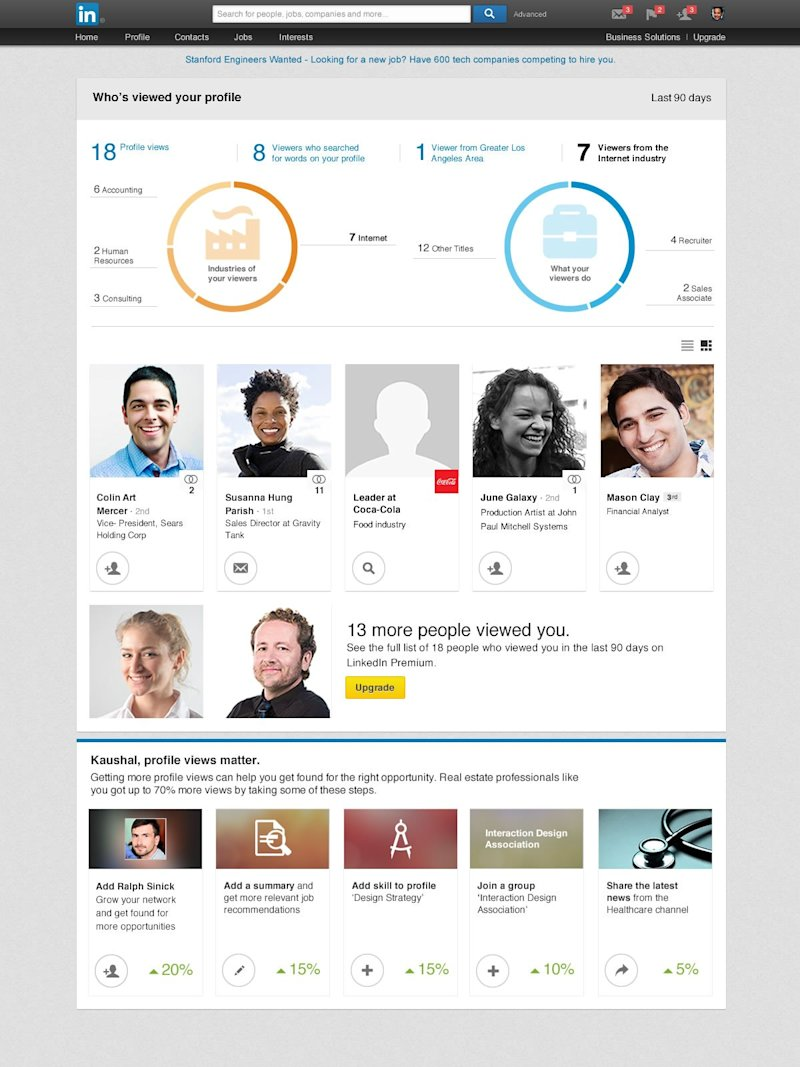 linkedin view page