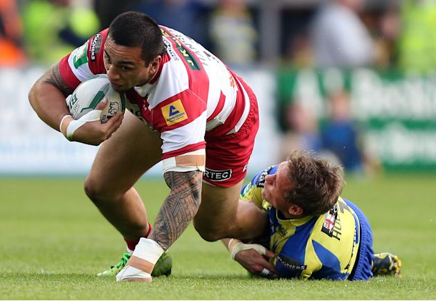 Rugby League - Super League - Warrington Wolves v Wigan Warriors - Halliwell Jones Stadium