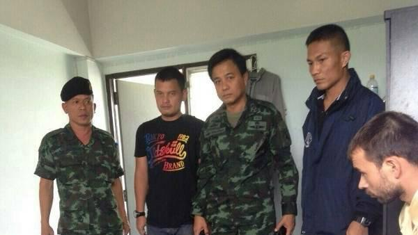 Royal Thai Police handout shows an arrested suspect in the recent Bangkok blast, in Bangkok