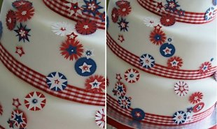 We salute you, patriotic cake