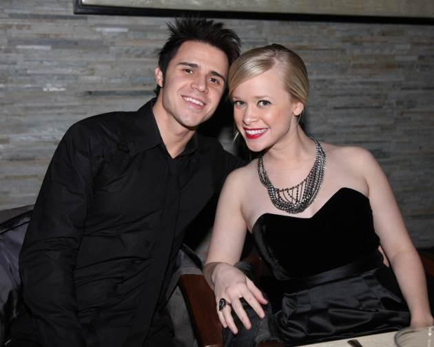 Kris Allen and wife Katy hang out after dinner at Simon at Palms Place in Las Vegas on December 31, 2009  -- Scott Monaco