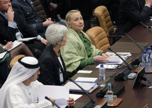 US Secretary of State Clinton attends a NATO meeting in Brussels