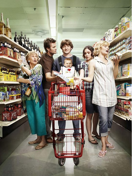 "The cast of  ""Raising Hope."""