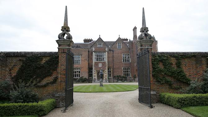 The front entrance to Chequers, the Prime Minister's official country residence, is seen near Ellesborough in southern England