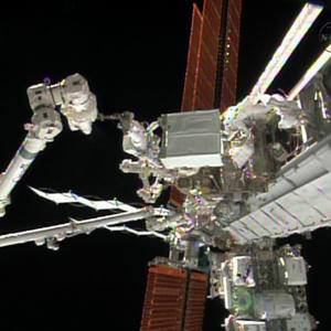 Raw: Spacewalkers Make Critical Repairs