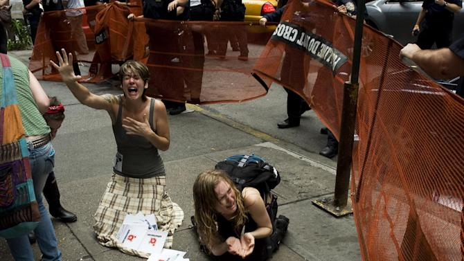 "This undated publicity photo provided by the Sundance Institute shows a scene from the film, ""99%: The Occupy Wall Street Collaborative Film,"" included in the U.S. Documentary Film competition for the 2013 Sundance Film Festival. (AP Photo/Sundance Institute)"