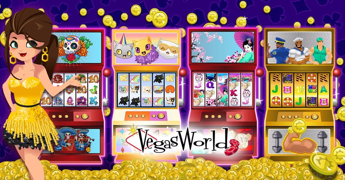 Enjoy real slots at home! Play VegasWorld Now!