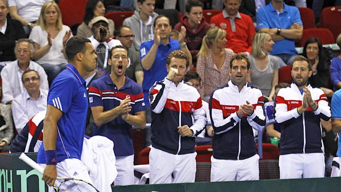 France beats Germany 3-2 in Davis Cup quarterfinal