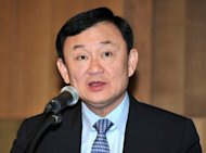 Thailand&#39;s fugitive former prime minister Thaksin Shinawatra, seen here in 2011, has called for a highly-controversial amnesty, saying it is a &quot;key to reconciliation&quot; and long overdue