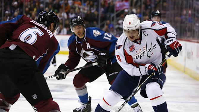 Ovechkin's late goal lifts Capitals over Avalanche